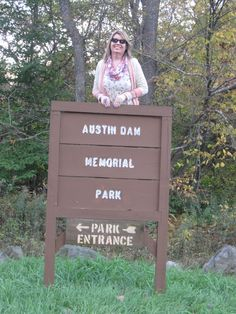 I am at the Austin Dam near Coudersport PA for the 24th Judy Bolton Days October 9, 2014