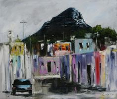 "Gavin Collins ""Bo Kaap Cape Town"" Cape Town, Paintings, Abstract, Artwork, Summary, Art Work, Work Of Art, Paint, Auguste Rodin Artwork"