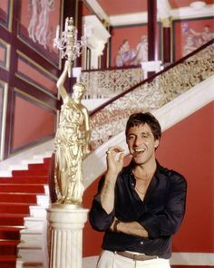 Al Pacino on the set of Scarface, 1983