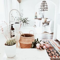 """2 Likes, 1 Comments - Connected Goods (@connectedgoods) on Instagram: """"The beautiful home of @michelle_janeen - get the look with our woven belly baskets """""""