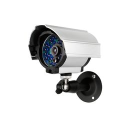 """This outdoor CCD camera delivers clear, high-quality video with a 1/4"""" SHARP Color CCD sensor. 24 IR LEDs allow for 65ft of automatic night vision. Weatherproof housing can support indoor outdoor monitoring, giving you peace of mind 24/7 day night. This high performance camera definitely makes invaders think twice before approaching your home and business."""