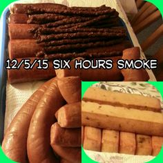 Gotta have something smoked to snack on. Easy n tasty. Home Smoker, Smoking, Sausage, Tasty, Snacks, Meat, Food, Appetizers, Meals