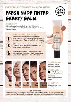 Nude Makeup, Contour Makeup, Flawless Makeup, Skin Makeup, The Body Shop, Body Shop At Home, Body Shop Skincare, Beauty Haven, Beauty Balm