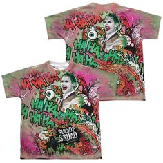 Suicide Squad - Joker Psychedelic Cartoon Youth All Over Print 100% Poly T-Shirt