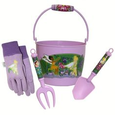 Disney Fairies Kids Gardening Bucket Tool Set and Glove Combo Pack FR14P03 Size Kids >>> Check out the image by visiting the link.