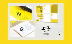 """Identidade visual corporativa criada para a copiadora """"print in!"""".Conceitos criados como logomarca, cartão de visita, papel timbrado, envelope e pasta para documentos."""