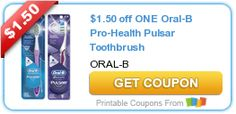 $1.50 off ONE Oral-B Pro-Health Pulsar Toothbrush