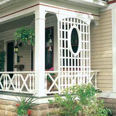 lattice with oval window