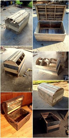 Diy Furniture - The best of wood pallets projects on one board: easy DIY ideas, Furniture, Home . Wooden Pallet Projects, Pallet Crafts, Woodworking Projects Diy, Wooden Pallets, Wooden Diy, Pallet Wood, Pallet Ideas, Woodworking Plans, Wooden Trunk Diy