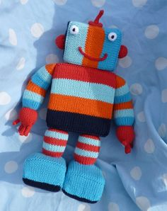 cutest knitted robot