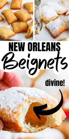 It's time you learned how to make beignets so you can enjoy their sweet deliciousness whenever you like. This New Orleans beignet recipe is where to start! Desserts To Make, Köstliche Desserts, Food To Make, Fun Deserts To Make, How To Make S, Fun Foods To Make, Dessert Simple, How To Make Beignets, Recipe For Beignets