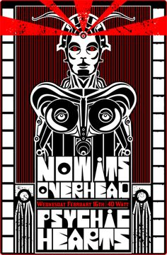 Now its Overhead   Psychic Hearts   Concert Poster by Winston Parker