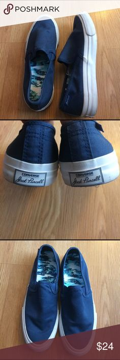 Converse Jack Purcell Converse Jack Purcell slip ons , used- in great condition, only used twice . Woman's USA size 7.5 Converse Shoes Sneakers