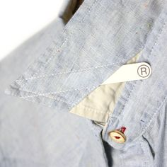 #shirt #detail - removable collar stays