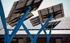 On Lumos' website (the maker of those great looking solar panels we use). Spotlight Solar is using Lumos LSX on ground mounted solar trees the new Sandy Grove Middle School, a net-zero school that will generate more power than it uses.