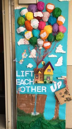 Anti Bullying Week Door decorating competition Up movie Lift each other up D Anti Bullying We Classroom Door Displays, Classroom Themes, Classroom Organization, Art Classroom, School Classroom, Anti Intimidation, Anti Bullying Week, Anti Bullying Activities, Bullying Posters