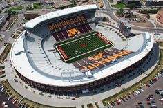 TCF Bank Stadium - University of Minnesota University Of Minnesota Football, Minnesota Colleges, Ohio State Football, Ohio State Buckeyes, Gopher Football, Big Ten Football, High School Football, College Football, Stadium Architecture