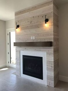 62 Amazing Fireplace Mantel Ideas to Bring Style to Your Fireplace ~ pandacup. - Today Pin : 62 Amazing Fireplace Mantel Ideas to Bring Style to Your Fireplace ~ pandacup. Fireplace Remodel, Home Living Room, House, Basement Fireplace, Remodel, Home Remodeling, New Homes, Farmhouse Fireplace, Diy Fireplace