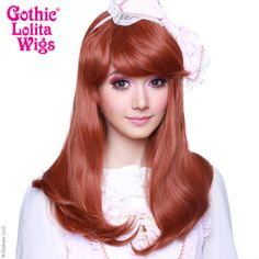 Perfect colour for violet from rat queens, just needs styling - Gothic Lolita Wigs® <br> Straight Classic™ Collection - Auburn Mix Auburn Red, Natural Wigs, Anime Wigs, Blunt Bangs, Wig Party, Best Wigs, Curl Styles, Light Blonde, Pastel Hair