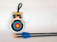 Tir à l'arc, cible, feutrine, decoration feutrine par IbelieveIcanfil - Archery, target, felt, felt ornament by IbelieveIcanfil on Etsy