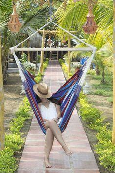 Best place to take a nap! Hammockchair / Hängestuhl Yagua Azul #hammock #hammockchair #hängestuhl #relax #garten #sommer