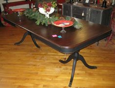 Duncan Phyfe Refinished Dining Table by SavvyChicFurniture on Etsy, $ ...