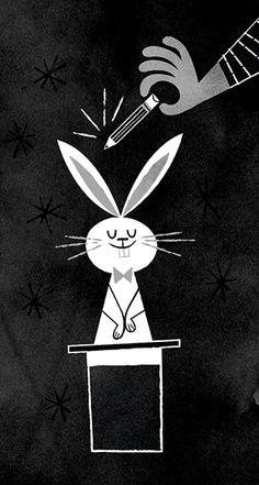 Magician and rabbit