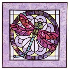 Dragonfly and Stained Glass