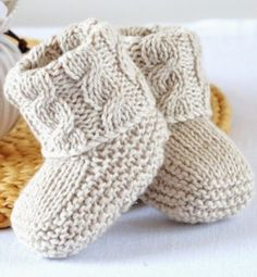 Knitting pattern for Baby Cable Booties - Baby Booties with Aran Cable Cuffs wit. Knitting , Knitting pattern for Baby Cable Booties - Baby Booties with Aran Cable Cuffs wit. Knitting pattern for Baby Cable Booties - Baby Booties with Aran C. Baby Knitting Patterns, Baby Booties Knitting Pattern, Knit Baby Shoes, Baby Shoes Pattern, Knit Baby Booties, Baby Patterns, Knitted Baby Socks, Knit For Baby, Knitted Baby Outfits