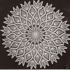 All of us love crochet doilies and more so if they are pineapple crochet doily patterns and that too free, have a look here and start one today Diy Tricot Crochet, Bag Crochet, Crochet Dollies, Crochet Home, Thread Crochet, Crochet Crafts, Crocheted Lace, Vintage Crochet Doily Pattern, Crochet Motifs