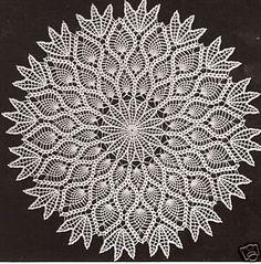 free crochet vintage patterns | FREE CROCHET PINEAPPLE DOILY PATTERN | FREE PATTERNS