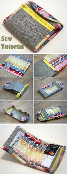 Purse Wallet Tutorial Sewing http://www.handmadiya.com/2015/10/purse-tutorial-sewing.html