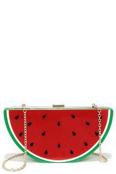 Cute Watermelon Clutch - Red Clutch - Plastic Clutch - $43.00