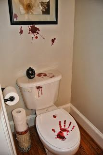Friday the 13th bathroom decor  Friday13thparty Pinterest Halloween parties ideas and 2017