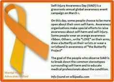 #selfinjuryawareness day is March 1st! I don't encourage self injury btw!