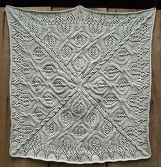 Ravelry: Tesae's Serenity Blanket - free knitting pattern. This is a beautiful project for a blanket based on a free knitting pattern.