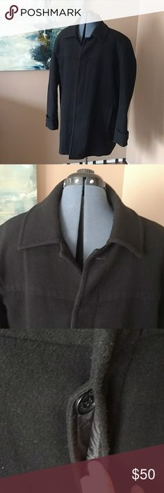Marc Andrew Marc men's pea coat Black wool pea coat by Andrew Marc, gently used in great condition. Very warm and comfortable. Handsome, but casual enough for everyday wear. Size XL. Andrew Marc Jackets & Coats Pea Coats