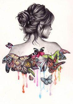 Kate Powell butterfly illustration. Repinned from Vital Outburst clothing vitaloutburst.com
