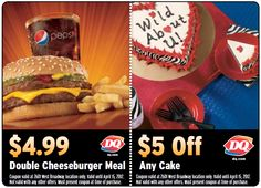 Great savings at Dairy Queen    www.dq.com Dairy Queen, Hot Dog Buns, February, Meals, Food, Rage, Meal, Nutrition