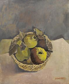 thunderstruck9:  Felice Casorati (Italian, 1883-1963), Mele cotogne [Quinces], 1940. Oil on canvas, 46.5 x 38 cm.