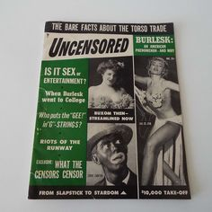 Rare Vintage 1954 Uncensored Magazine Lili St Cysr Burlesque Magazine Men's Entertainment Bill Minsky American Burlesque by VintageBlackCatz on Etsy