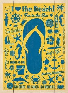 ffac8e235 This Flip-Flop Pattern Canvas by Evergreen is perfect!