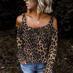 Fashion Stitching Leopard Strap T-shirt – Anglered Blusas Animal Print, Animal Prints, Leopard Fashion, Shirt Blouses, T Shirt, Chiffon Shirt, Womens Fashion Online, Maxi Dress With Sleeves, Sexy Outfits