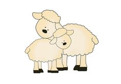 Sheep Lamb Art Decal Mural Barnyard Farm Animal Nursery Stickers #decampstudios