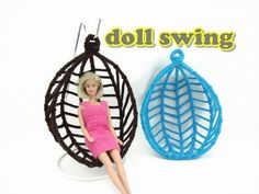 Doll Furniture Tutorial - Swing Chair - YouTube