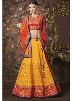 couleur mustrad choli lehenga sunneri, - 233,00 €, #Robepakistanaise #Lehengamariage #Robepakistanaisepascher #Shopkund