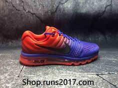 New Nike Air Max 2017 Mesh Orange Blue Gradient