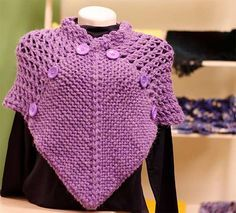 This Pin was discovered by eme Knitting Stitches, Knitting Patterns Free, Free Knitting, Crochet Patterns, Knitted Shawls, Crochet Shawl, Knit Crochet, Pinterest Crochet, Crochet Videos