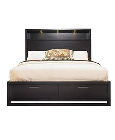 bookcase headboard  Storage Drawers in the Footboard    Tahoe Bedroom Furniture, Noir King 2 Piece Set (Bookcase Headboard and Footboard Storage) - furniture - Macy's