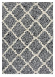 Shaggy Collection Trellis Shag Area Rug Rugs Grey 33x5 ** You can find out more details at the link of the image.